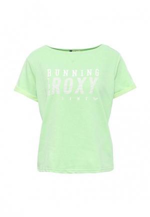 Футболка Roxy. Цвет: зеленый