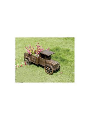 Кашпо для цветов ДСЛ 1412Л цвет коричневый (машина) Da Sent Lin ARTS. Цвет: коричневый