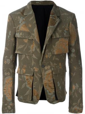 Куртка Raquel в стиле милитари Haider Ackermann. Цвет: зелёный
