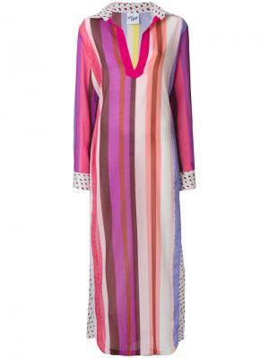 Пляжное платье в полоску Michel Klein. Цвет: многоцветный