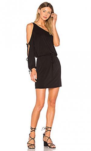 Платье lula YFB CLOTHING. Цвет: черный