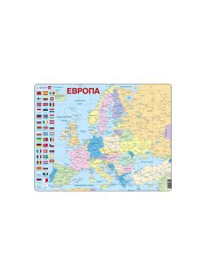 Пазл Европа LARSEN AS. Цвет: голубой, белый, оранжевый, желтый, синий, зеленый