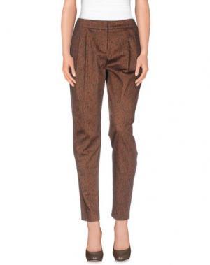 Повседневные брюки E_GO' SONIA DE NISCO. Цвет: коричневый