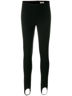 Pinstripe leggings Toteme. Цвет: чёрный