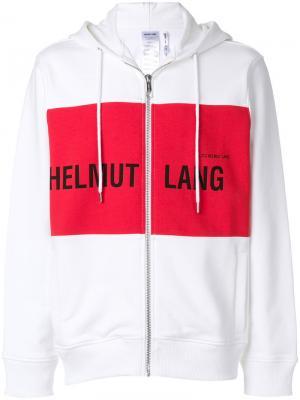 Толстовка с логотипом Helmut Lang. Цвет: белый