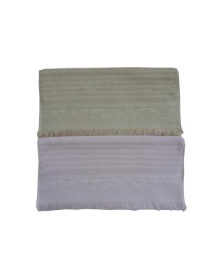 Набор полотенец A and C Collection. Цвет: бежевый, розовый