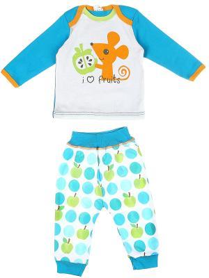 Комплект одежды Yallo Kids. Цвет: голубой