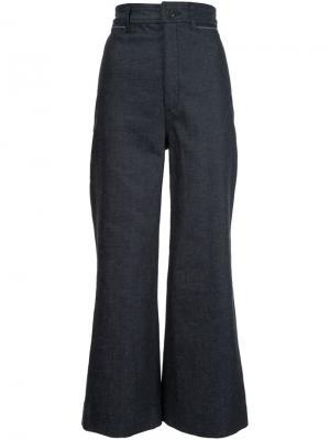 Укороченные расклешенные джинсы Proenza Schouler. Цвет: синий