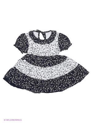 Платье Апрель. Цвет: черный, белый