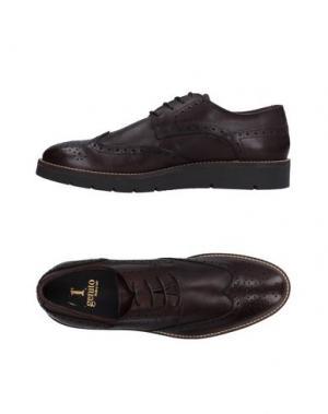 Обувь на шнурках 1° GENITO. Цвет: темно-коричневый