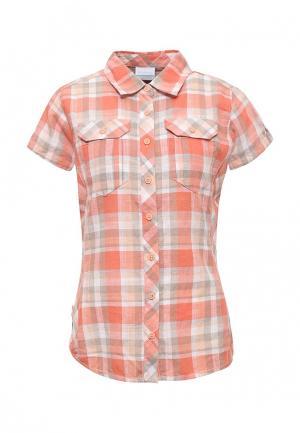 Рубашка Columbia. Цвет: коралловый