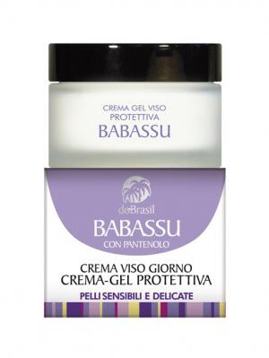 Крем-гель для лица защитный Бабассу, чувствительной кожи 50мл DoBrasil. Цвет: молочный