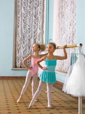 Гимнастический купальник Arina Ballerina. Цвет: бледно-розовый