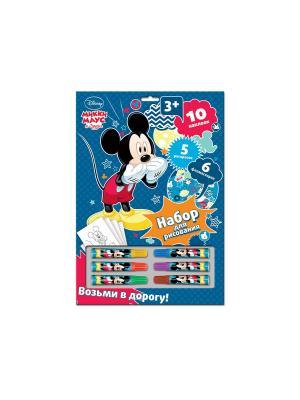 Набор для рисования Disney Микки Маус с фломастерами. Цвет: синий