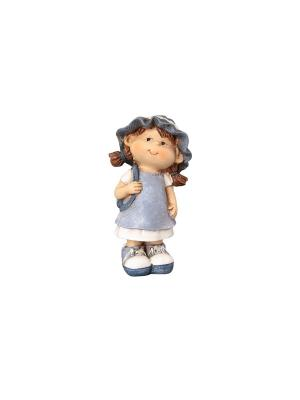 Фигурка декоративная Девочка с рюкзачком Elan Gallery. Цвет: бежевый, белый, голубой