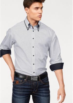Рубашка BRUNO BANANI. Цвет: белый/с рисунком
