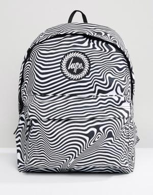 Hype Рюкзак с зебровым принтом. Цвет: мульти