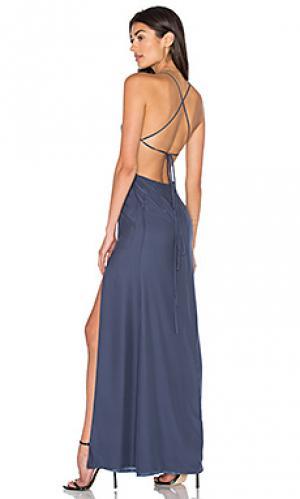 Вечернее платье moss STONE_COLD_FOX. Цвет: синий