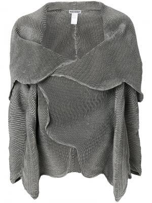 Куртка с запахом Issey Miyake. Цвет: телесный