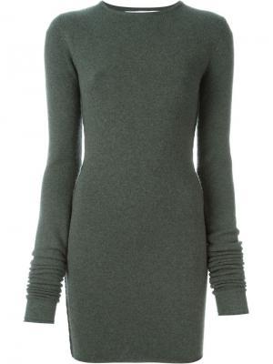 Платье No. 5 Base Medium Extreme Cashmere. Цвет: зелёный