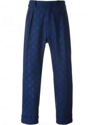 Свободные брюки Pence. Цвет: синий