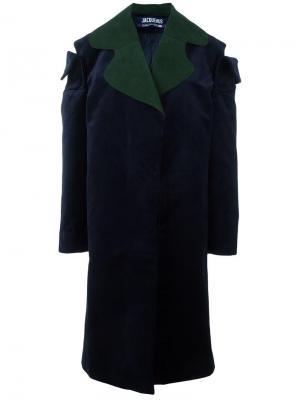 Объемное пальто с вырезными деталями Jacquemus. Цвет: синий