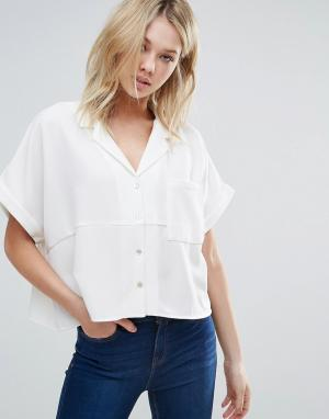 D.RA Свободная рубашка с короткими рукавами Aline. Цвет: кремовый