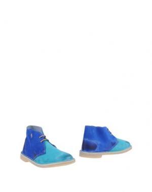 Полусапоги и высокие ботинки GINEVRA. Цвет: бирюзовый