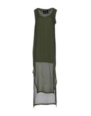 Платье длиной 3/4 ODI ET AMO. Цвет: зеленый-милитари