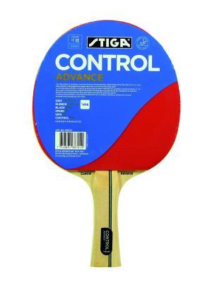 Ракетка для настольного тенниса CONTROL ADVANCE WRB ITTF (1887-01) Stiga. Цвет: красный