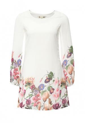 Платье Yumi. Цвет: бежевый