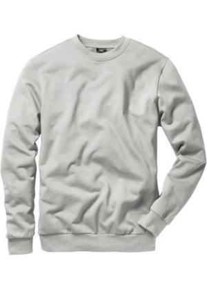Свитшот стандартного прямого кроя regular fit (серый меланж) bonprix. Цвет: серый меланж
