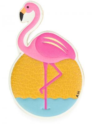 Стикер в виде фламинго Anya Hindmarch. Цвет: жёлтый и оранжевый
