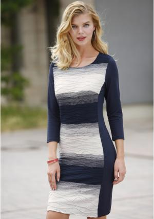 Платье MY STYLE. Цвет: синий в полоску