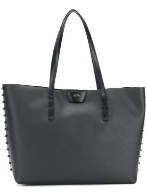 Spike stud shoulder bag Gum. Цвет: чёрный