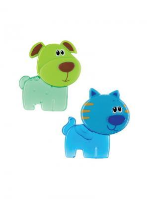 Игрушка- прорезыватель с гелем CHILLY PETS Happy Baby. Цвет: синий, светло-голубой