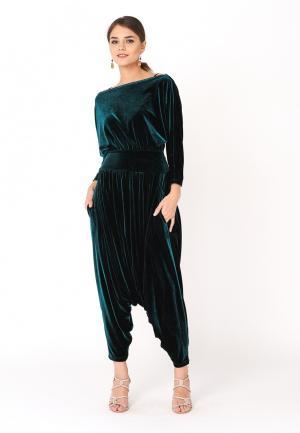 Комбинезон Monosuit. Цвет: зеленый