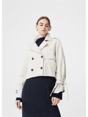 Куртка - TRENCHY Mango. Цвет: бежевый