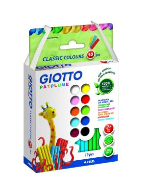 Giotto patplume пластилин.10цвх20гр FILA. Цвет: белый, синий, зеленый