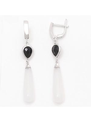 Серьги BALEX. Цвет: черный, молочный, серебристый