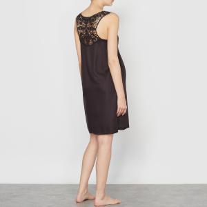 Сорочка ночная для беременных, 100% вискозы La Redoute Collections. Цвет: розовый,черный
