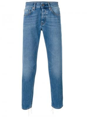 Выбеленные джинсы слим Pence. Цвет: синий
