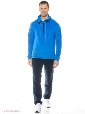 Спортивный костюм ADDIC. Цвет: голубой, темно-синий