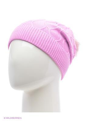 Колибри Беркле шапка женская с помпоном Berkle. Цвет: розовый