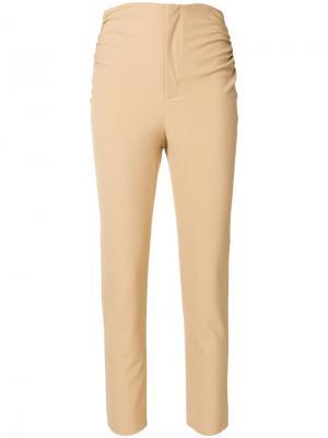 Укороченные брюки кроя скинни Jacquemus. Цвет: телесный
