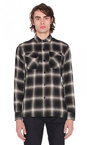 Фланелевая рубашка crosscut 3sixteen. Цвет: черный