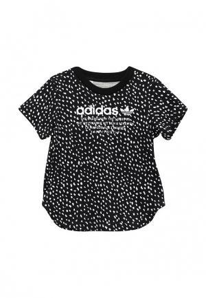 Футболка adidas Originals. Цвет: черно-белый
