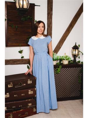 Платье Марка Котовых. Цвет: голубой