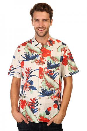 Рубашка  Paradise Flowers Aloha Shirt White Lightning Bolt. Цвет: мультиколор