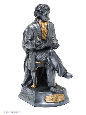 Статуэтка Бетховен Veronese. Цвет: серый, золотистый